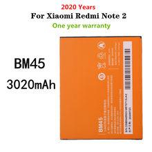 BM45 Replacement Battery For Xiaomi Redmi Note 2 Redrice note2 Phone Battery 3020mAh High Capacity Batteries
