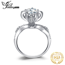 JewelryPalace בציר CZ אירוסין טבעת 925 טבעות כסף סטרלינג לנשים יום נישואים טבעת חתונת טבעות כסף 925 תכשיטים