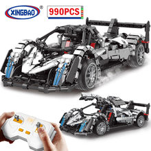 XINGBAO City High-tech RC Super Sports Car MOC Building Blocks Remote Control Racing Car Vehicle Model Bricks Toys For Children