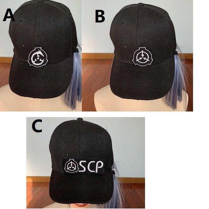 SCP Special Containment Procedures Foundation Logo Baseball Cap Hat Embroidery
