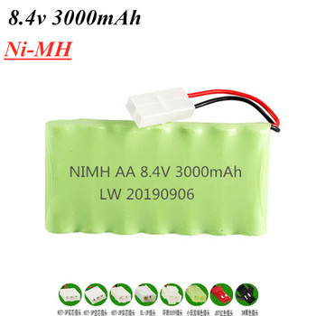 8.4v 3000mah Ni-MH Rechargeable Battery For Rc toy Boat Car Tanks Trains Robot Gun NiMH AA 2400mAh 8.4v Battery Pack 1Pcs image