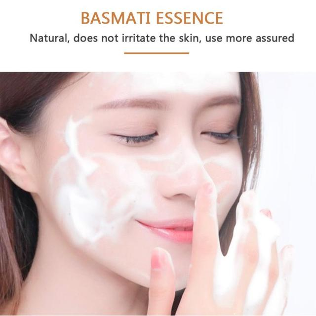 60g Milk Handmade Soap Whitening Moisturizing Brighten Skin Wash Face Body Cleaning Soap Rice Soap Cleaning Soap HOT SALE TSLM1 1