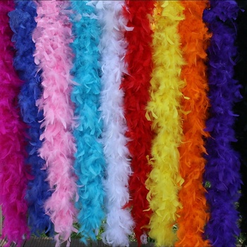 цена на 60Gram Thickness Fulffy Turkey Feather Boa Dress Accessories Chicken Feathers Boa Costume/Shaw/party Wedding Feathers Decoration