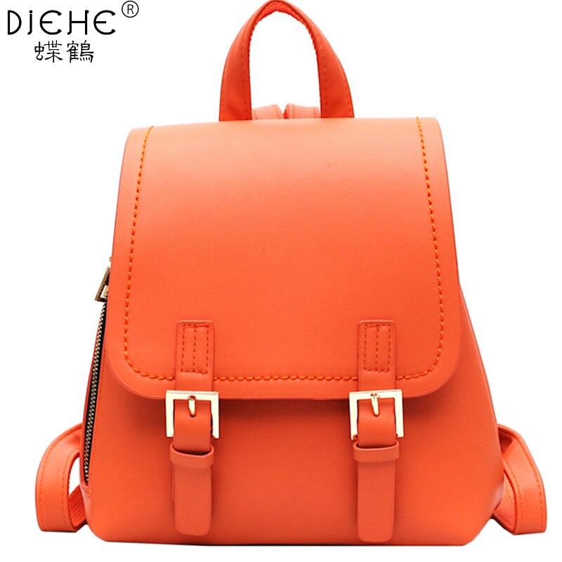 Women Small Backpack PU Leather Backpacks Cute School Bags Backpack For Teenger Girls Fashion Shoulder Bag Travel Mochila Female