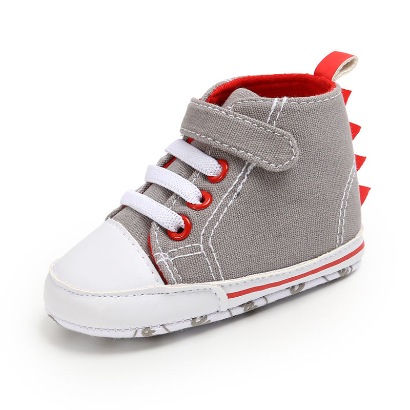 2019 Baby Boys Shoes Infant Kids Canvas Booties Toddler Sneaker Soft Sole Lace Up Prewalker Boys Crib Shoes Pram First Walkers