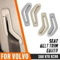 Левый и правый спереди натяжитель ремня безопасности направляющее кольцо пояс селектор ворота ремня безопасности Накладка для Volvo S80 V70 XC90 ...