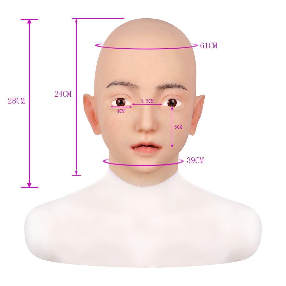 Mask Silicone Realistic Female Halloween Headwear Crossdressers Halloween CD