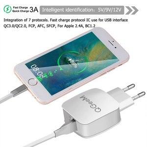 Image 5 - QGEEM QC 3,0 USB зарядное устройство Быстрая зарядка 3,0 зарядное устройство для телефона iPhone 18W3A быстрое зарядное устройство для Huawei Samsung Xiaomi Redmi EU US Plug
