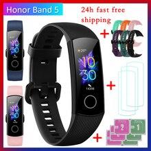 Huawei Honor Band 5 фитнес-браслет BT4.2 мониторинг сердечного ритма в режиме реального времени водонепроницаемые Смарт-часы несколько спортивных режимов