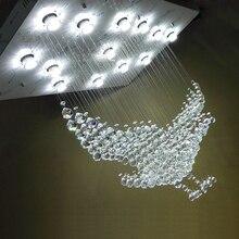 New Eagles Design Luxury Modern Crystal Chandelier Lighting Lustre Hall LED Lights Cristal Lamp L100xW55xH80CM