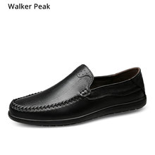 Big Size 37-46 Men #8217 s Casual Shoes 100 Genuine Leather Winter Shoes High Quality Business Footwear Nonslip Work shoes Rubber cheap Walker Peak Cow Leather Lace-Up Fits true to size take your normal size Oxfords Solid Breathable Height Increasing Massage