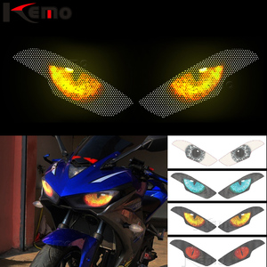 For Yamaha YZF-R3 R25 YZF R3 YZFR3 2015-2018 Motorcycle Accessries 3D Front Fairing Headlight Sticker Guard Head light Stickers