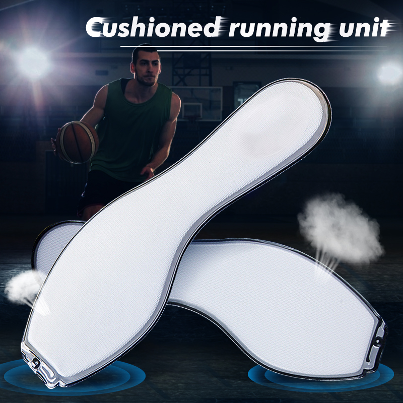1 Pair Air Cushion Insoles, Shock-Absorbant White Insole, Running Sports Shoes Durable Gel Inserts, Soft Foot Care Insert