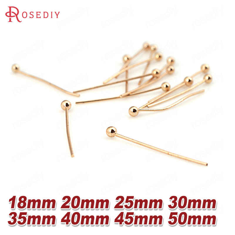 Earrings- Nickel Free 70mm 21 Gauge 150pc Gold Solid Brass Head Ball Pins for Jewelry Making 3 Inch