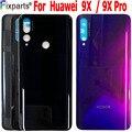 Новинка  задняя крышка аккумулятора для Huawei Honor 9X  сменная стеклянная крышка для Honor 9X Pro  крышка аккумулятора  корпус двери
