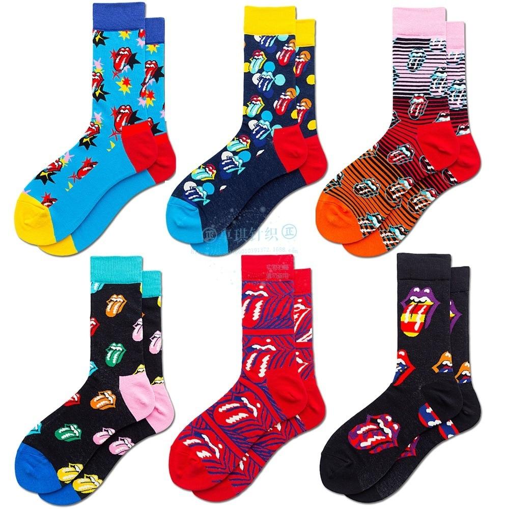 Мужские носки, хлопковые высококачественные носки в стиле хип-хоп, Скручивающиеся камни, визуальные рок, крутые носки, мужские носки в стиле...