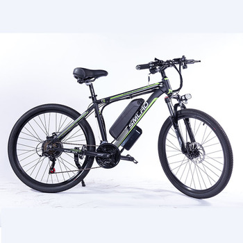 """C6 F Electric Bike E Bicycle 26""""/27.5""""/29"""" 4.0 inch Fat Tire ebike 750W/1000W 13AH Electric Mountain Bicycle with 2"""