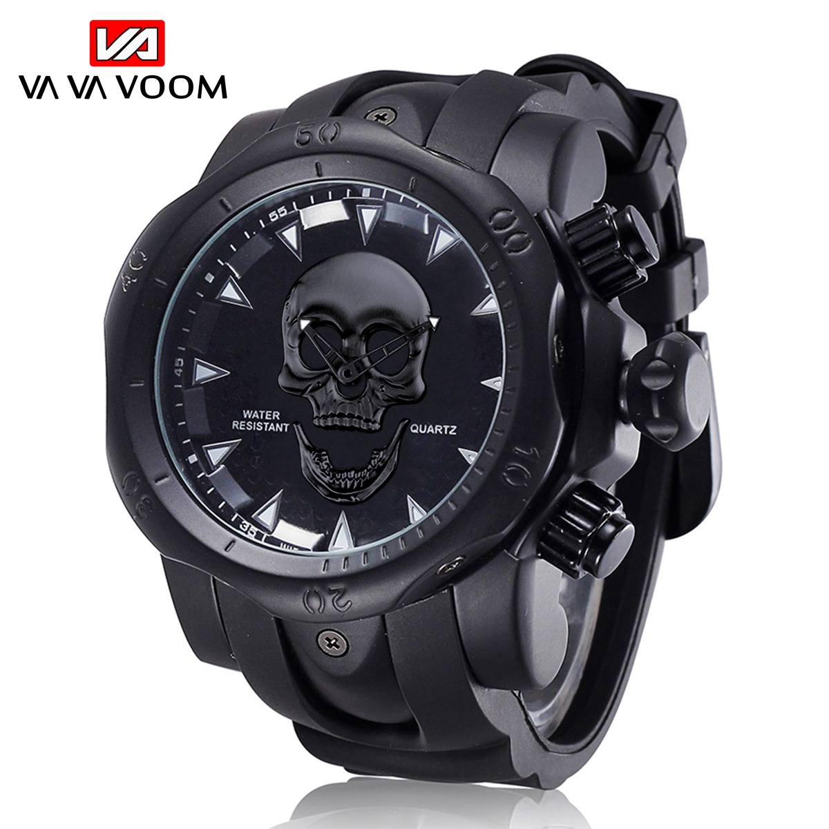 Cool Big Men's Watches Fashion Skull Brand Clock Waterproof Silicone Strap Man Wristwatch Sports Hour Male Date Authentic Brand