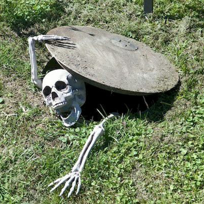 Halloween Decoration Skull Skeleton Horror Tombstone Halloween Home Garden Decor Graveyard Haloween Trick Props Frighten Kids(China)
