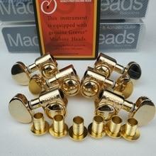 Grover Elektrische Gitaar Machine Heads Tuners 1Set 3R 3L Goud Stemsleutels (Met Verpakking)