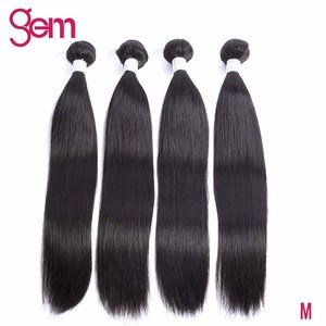 Перуанские пучки прямых и волнистых волос 100% человеческие волосы пучки 3 шт. натуральный цвет 10-30 дюймов Gem Beauty Remy волосы для наращивания