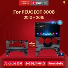 Junsun 4G + 64G Android 10 Voor Peugeot 3008 2013 - 2015 Auto 2 Din Auto Radio Stereo speler Bluetooth Gps-navigatie Geen 2din Dvd