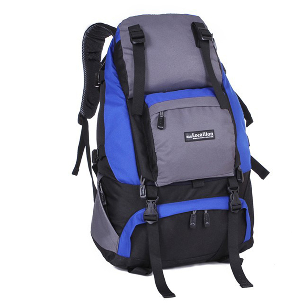 Oxford Cloth Material Rucksack Color : Blue Mens and Womens College Student Knapsack Outdoor Travel Climbing Rock Climbing Backpack Fashion Waterproof Backpack