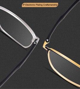 Image 3 - אופנה עסקים לגברים ונשים משקפיים סגסוגת מתכת מסגרת משקפיים עם מתכון מרשם Opticals