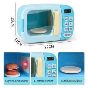 Image 3 - Kid S Keuken Speelgoed Simulatie Magnetron Educatief Speelgoed Mini Keuken Voedsel Pretend Play Snijden Rollenspel Meisjes Speelgoed
