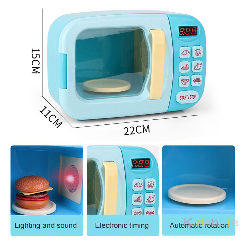 Closeout DealsGirls Toys Oven Simulation Microwave Cutting Playing Food-Pretend Role Kitchen Kid's
