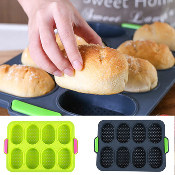 New Hot Perforated Silicone Bread Mold Non Stick Mold Baguette Tray Pan Perfored Pan Food Grade Silicone  SMD66|  -