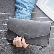 Hot sale fashion high capacity women wallets girl casual long clutch zipper phone wallet female credit card holder leather purse high capacity fashion women wallets long dull polish cow leather wallet female zipper