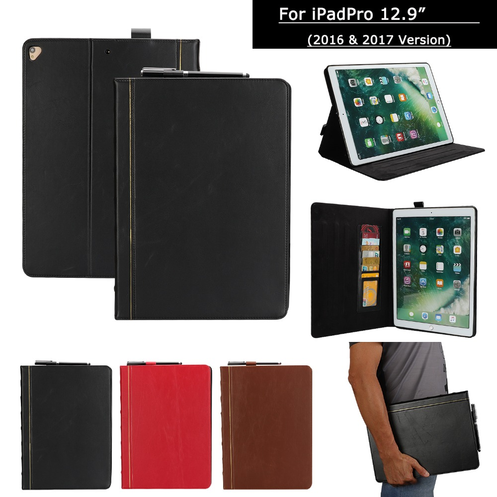 PU Leather Fashion Tablet Case For Apple ipad Pro 12.9 inch 2017  2016 /ipadPro 12.9 A1584 A1670 Cover Protection Capa FundasTablets