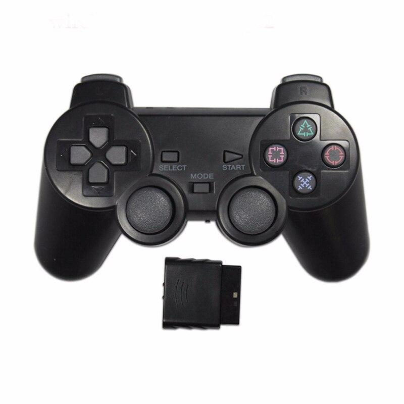 Contrôleur de jeu de couleur Transparent pour Sony PS2 manette sans fil 2.4GHz manette de contrôle de Vibration pour Playstation 2