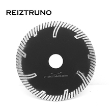 REIZTRUNO Premium Diamond Saw Blade 5-Inch Turbo for concrete sandstone granite with protective teeth,Hot pressed
