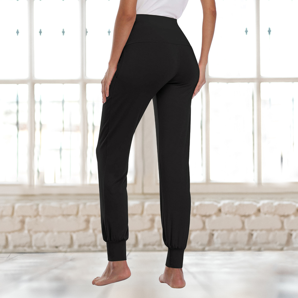 Pregnant Women Maternity Trousers Soft Cotton Pants High Waist Clothes Pregnancy High Waist Elastic Pants with Pocket