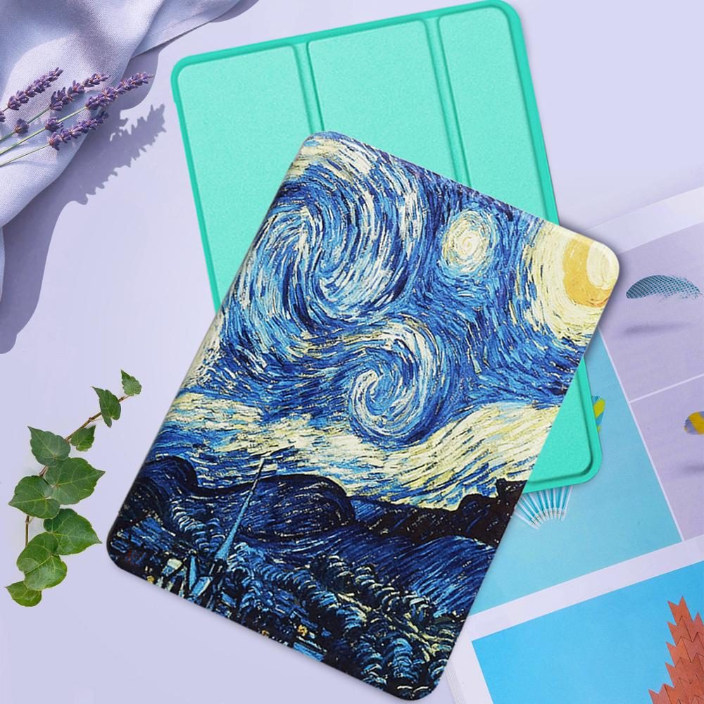 Tab A 10.1'' Folding Stand PU Leather Cover For Samsung Galaxy Tab A 10.1'' (2019) T510 T515 Smart Tablet Case Auto Wake/Sleep