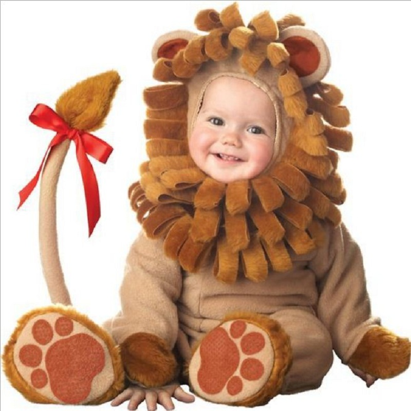cartoon Animal Cosplay <font><b>baby</b></font> girl <font><b>clothes</b></font> winter christmas costume <font><b>new</b></font> <font><b>born</b></font> <font><b>boy</b></font> romper halloween jumpsuit Toddlers Infant onesie image
