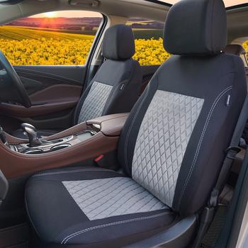 Gorąca sprzedaż 10PC 4PC uniwersalne pokrowce na siedzenia samochodowe pasują większość samochodów udekoruj i chroń siedzenia pokrowiec na fotel samochodowy do samochodu hyundai solaris tanie i dobre opinie rownfur Cztery pory roku Poliester 46 46cm 46 46inch Pokrowce i podpory Podstawową Funkcją 22 05inch car Seat cover gray-black red-black blue-black