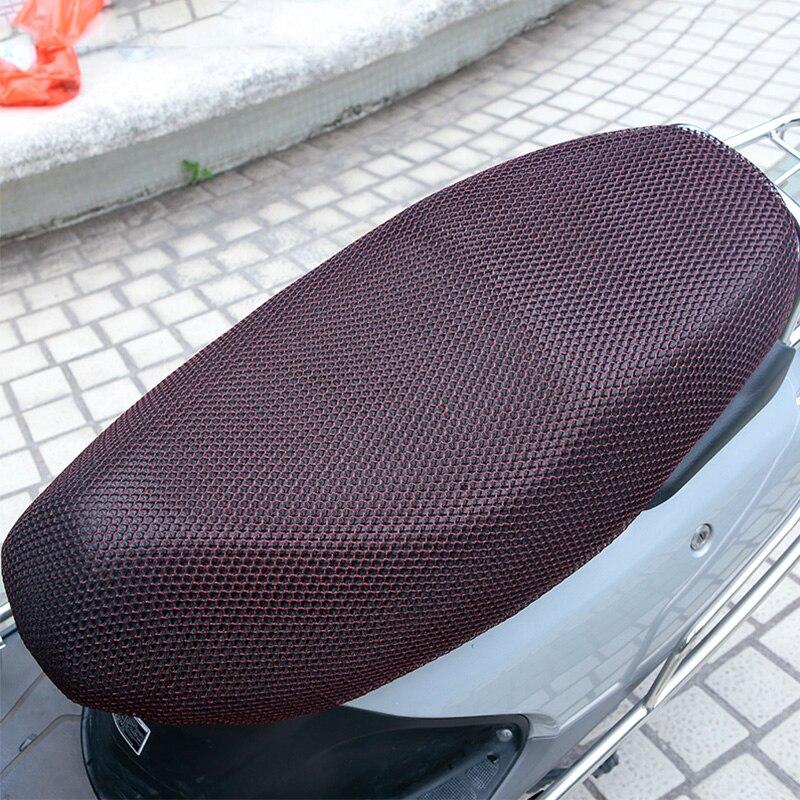 Image 3 - 1 個 XXL 3D メッシュオートバイのシートカバーの通気性太陽プルーフバイクスクーターシートカバークッションオートバイの保護    グループ上の 自動車
