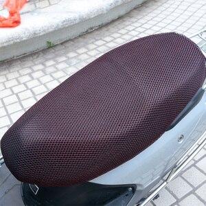 Image 3 - 1PCS XXL 3D Mesh Motorrad Sitz Abdeckung Atmungs Sonne wasserdichte Motorrad Roller Sitzbezüge Kissen Motorrad schutz
