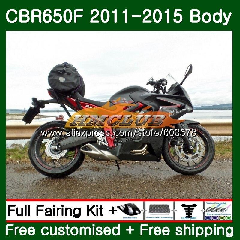 CBR-650F Pour HONDA CBR 650F 650 F 2011 2012 2013 2014 2015 130CL. 14 noir Brillant CBR650 F CBR-650 CBR650F 11 12 13 14 15 Carénage