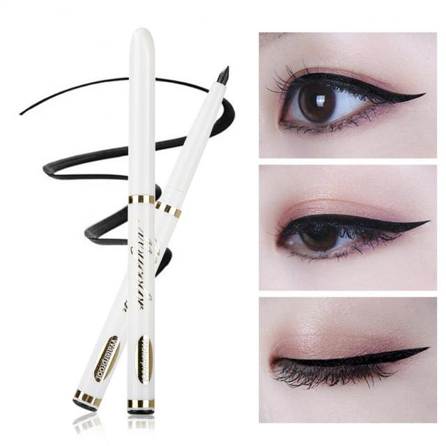 Classic Black Eyeliner Telescopic Waterproof Durable Automatically Rotate Eyebrow Pencil Eyeliner Beauty Tool Makeup Lady TSLM1 4