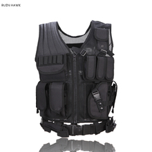 Adjustable Army Tactical Training Combat Vest Outdoor Hunting Airsoft Molle Vest Military Paintball Wargame Protective Waistcoat tactical vest hunting equipment airsoft vest army military gear outdoor paintball police molle vest for cs wargame 6 colors