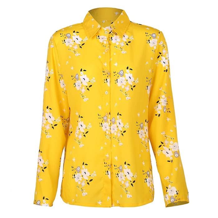 Long Sleeve Women Blouses 2020 Plus Size Turn-down Collar Blouse Shirt Casual Tops Elegant Work Wear Chiffon Shirts 5XL