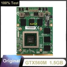 Original gtx560m gtx 560 m N12E-GS-A1 1.5 gb placa gráfica de vídeo com x-bracket para dell m17x m18x msi 16f1 16f2 totalmente testado