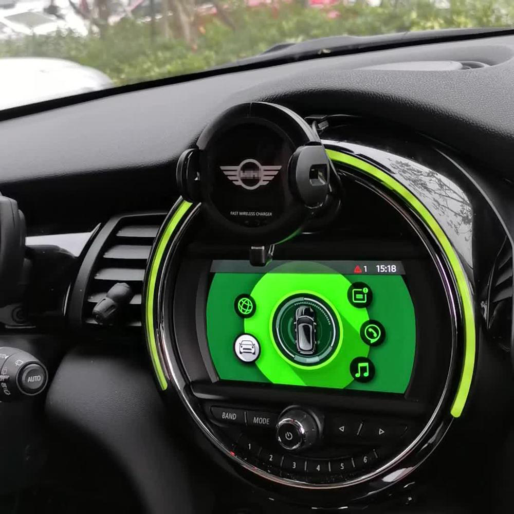 L Infrared Sensor Automatic Qi Fast Wireless Car Phone Charger for Mini Cooper S JCW One F54 F55 F56 F60