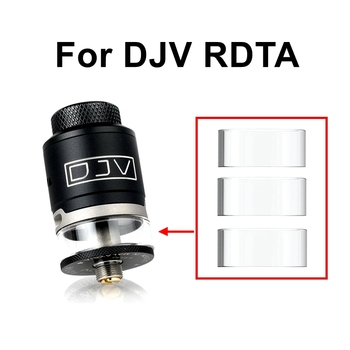 Hongxingjia Vape Accessories Glass Tube For Dejavu DJV RDTA Atomizer Tank Drip Tips Seal Gasket Ring Electronic Cigarette Vapor image