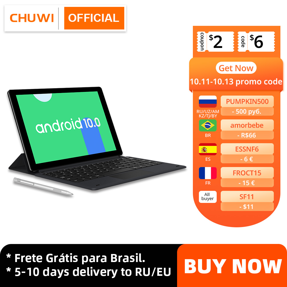 CHUWI HiPad X 10.1 inch Android 10 Tablet PC Helio MT6771 Octa Core LPDDR4X 6GB 128G UFS 2.1 Tablet 4G LTE GPS|Tablets| - AliExpress