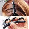 AWAYTR Doppel Schicht Bands Clip Haarbänder Mode Kunststoff Geflochtene Stirnband Punk Neue Stricken Frauen Headwear Haar Zubehör